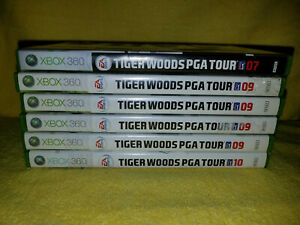 Several Tiger Woods PGA Tour Games for Microsoft Xbox 360 (all tested +Manual)