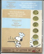 Peanuts Snoopy Stationery Set Blue Gold Seals From Japan