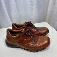 Born Leather Men's Size 10 M Lace Up Shoes Brown Comfort