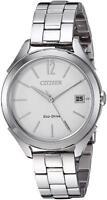 Citizen Eco-Drive LTR Women's Silver-Tone Bracelet 34mm Watch FE6140-54A