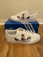 Mens Adidas Originals Superstar Pride 2020 LGBTQ Rainbow White FY9022 size 11.5