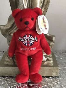 VINTAGE BEANIE BEAR RED HARD ROCK CAFE COLLECTABLE NEW TAGS SMALL RITA BEARA