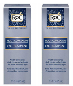2 Pack Roc Multi Correxion 5 in 1 Eye Cream 0.5 oz. Each