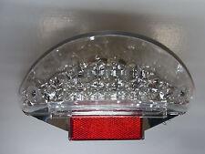 FANALE RETROVISORE 15 LED 's vetro chiaro con e-numero per AEROX NITRO (s166)