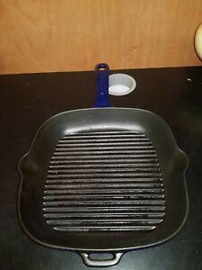 Chasseur Cast Iron Griddle Pan Blue