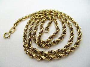 """Fine Heavy 9ct Solid Yellow Gold Prince of Wales Link 18"""" Chain Necklace 6.26g"""