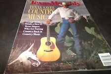 Vintage Texas Monthly Texas Saves Country Music George Strait Steve Earle 1988