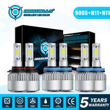 6x H11 9005 H11 LED Headlight Conversion kit High Low Beam Fog Light Combo 6000K