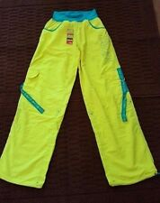 ZUMBA Fitness Dance Cargo Pants - Convert to Capris -  ELECTRO - M - NWT