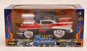 Maisto Muscle Machines 1957 Chevrolet Bel Air Auto Maßstab 1:24 NEU