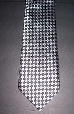 "Tuscani UOMO Europa Collection Men's Suit Necktie Black Silver 3.5""W 58""L"