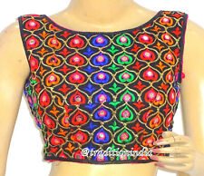 Designer Sari Blouse,Readymade Rajasthani Embroidered Sleeveless Saree Blouse