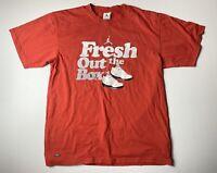 Vintage Nike Jordan Fresh Out The Box Shirt Size M Red Short Sleeve Tee