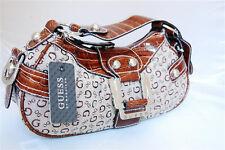 NWT GUESS Handbag Bag Satchel SIGN Shoulder Purse Business Club G Logo Brown/Tan
