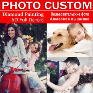Personalized 5D Diamond Painting Full Drill UK DIY Any Photo Custom Kits Gifts