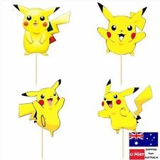 24pc PIKACHU CAKE CUPCAKE TOPPERS POKEMON GO TOPPER PICKS TEENAGE PARTY