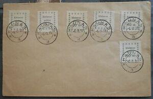 Lithuania 1919 Cover, Kaunas, 6 stamps, used