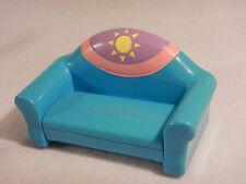 Mattel Dora The Explorer Blue Couch Sofa Pull Out Hide A Bed Doll Furniture Toy