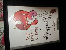 On your Birthday Have a Great Day Guitar  Card
