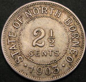 NORTH BORNEO 2 1/2 Cents 1903H - VF - 1214 ¤