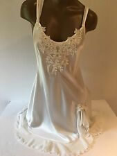 Linea Donatella Women's M Opaque  Ivory Chemise  Nightgown Lace Sequins NWT