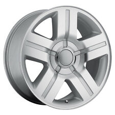 "4) 22"" 22x9 Chevy GMC 1500 Silverado Machined Wheels Rims Set Texas Special"
