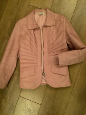 Red Moon Pink Leather Jacket Uk Size 10