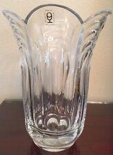 """Steklarska Sola Rocno Delo Yugoslavia Crystal Vase 9"""" Great Gift!"""