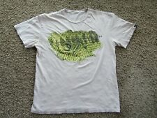 G. Loomis Beige Reptile Print Fishing Short Sleeve Cotton Blend Men's T-Shirt L