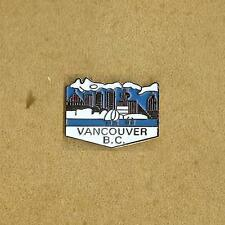 CITY OF VANCOUVER BC MUNICIPALITY CANADA LOGO PIN