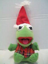 "7"" Baby Kermit The Frog Christmas Plush Henson Associates With Tush Tag 1987!"