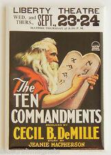 Ten Commandments FRIDGE MAGNET (2.5 x 3.5 inches) movie poster window card