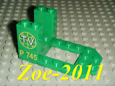 Lego Green Cockpit 7x4x3 with TV Logo NEW!!!