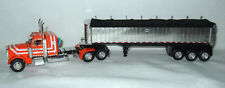 DCP DAVE FRIEND ORANGE PETERBILT 379 W. MAC SQUARE BOTTOM THREE-AXLE COAL1/64