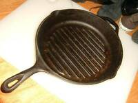 "Lodge Cast Iron Grill Skillet 11"" Frying Pan Made in USA"