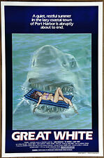 Great White Jaws style Vintage Original 1982 Rolled Movie Poster  27in x 41in