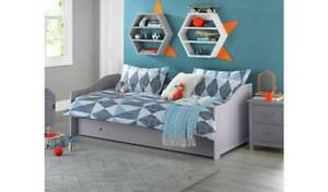 Home Brooklyn Wooden Day Bed with Trundle - Grey