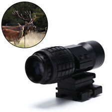 3X Magnifier Sight Scope 20mm Flip To Side Mounts Fit Red Dot Sight Airsoft Nice