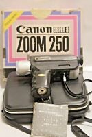 Canon Super 8 Zoom 250 Movie Camera with case For Parts or Repair