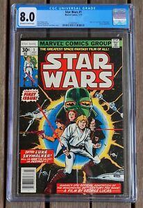 Star Wars #1 CGC 8.0 Marvel Comics Year 1977