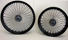 DNA BLACK MAMMOTH FAT 52 SPOKE WHEELS 21x2.15 & 16x3.5 SPORTSTER XL HARLEY