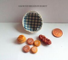 DOLLS HOUSE FOOD - MINIATURE BASKET OF BREADS