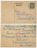 36728 - Bayern Ganzsache P 98 (16) - Leutershausen 6.12.1916 nach Weißenburg