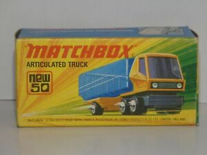 MATCHBOX Superfast new 50 Articuled Truck neuf boîte-Mint In Box made in England