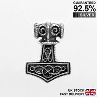 925 Silver Thor's Hammer Mjolnir Norse Viking Knot Pendant ✔️Solid✔️Quality