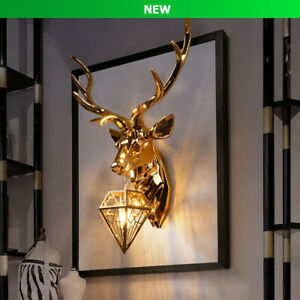 ❤️New Gold Silver Antler Deer Wall Light Crystal Sconce Lamp - Fast Shipping❤️