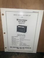 Air Chief Radio Model 4-A-24 -Service Manual- Schematics, Parts List. Firestone
