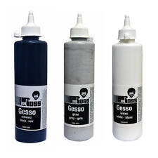 Bob Ross Gesso Primer for Oil & Acrylic Painting in Black, White or Grey 500ml