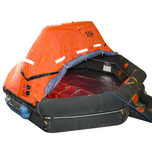 SOLAS APPROVED 10 PERSON THROW-OVER TYPE LIFE RAFT
