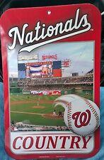 MLB Washington Nationals Country Team Logo Baseball Sign